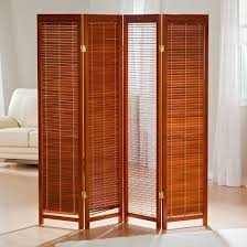 furniture charming room separator ideas with bamboo material and