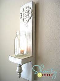 Diy Wall Sconce Diy Wall Sconce Video Shanty 2 Chic