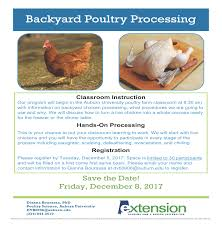 backyard poultry processing madison county extension office