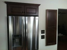 Kitchen Cabinets With Inset Doors Recessed Fridge W Wall Cabinet Inset Above It Custom Door Panel