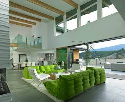green apartment living home design
