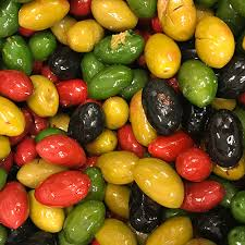 italian olives italian mix blk grn rd cerignola olives teitel brothers