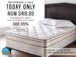 sears canada flash sale save 65 off select mattresses up to 55