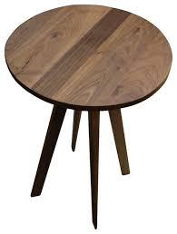 round walnut side table stylish round walnut coffee table shop houzz vermontmodernfurniture