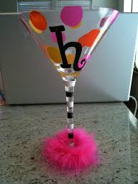 mini plastic martini glasses personalized painted martini glass celebrate it pinterest
