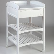 White Wood Changing Table Wooden Changing Table On Casters Troll Nursery