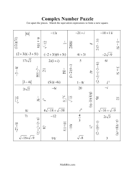 operations with complex numbers worksheet answers 28 templates