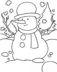 printable 41 preschool winter coloring pages 8139 snowman of for