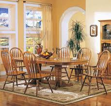 Chair Oak Dining Room Chairs Solid Table Arrowback Chair Set - Oak dining room set