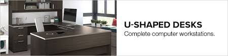 U Shaped Desks U Shaped Desk Shop Wrap Around Desk With Desk Hutch Nbf