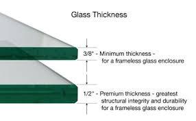3 8 glass shower door the optimal thickness for an atlanta frameless glass shower door