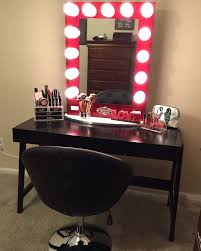 Vanity Mirror With Chair Alluring Makeup Mirror With Lights Accessories Mirror Led Diy