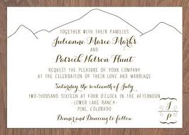 mountain wedding invitations wedding invitations idea chíc