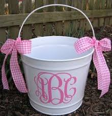 easter pail personalized easter basket monogram choice of colors and name