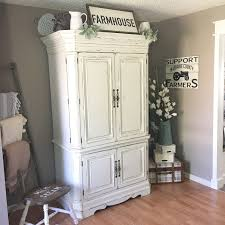 farmhouse armoire repurposed tv armoire into a home office refunked junque s