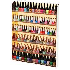 buy acrylic nail polish wall rack organizer holds up to 90 bottles