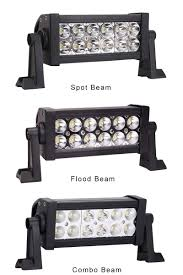 Led Flood Light Bars by 7 Inch 36w Dual Row Off Road Led Light Bar Three Types Beam Spot