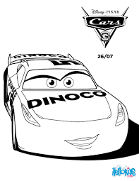 cars 3 cruz ramirez dinoco coloring pages hellokids com