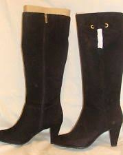 s suede boots size 9 bandolino s shoes cadogan black suede dress boots size