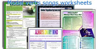 english teaching worksheets modal verbs songs