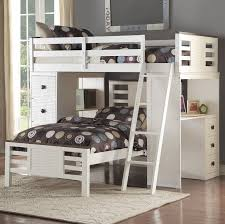 Loft Bed Frame With Desk Acme Furniture Florrie Loft Bed With Desk U0026 Reviews Wayfair