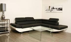 canapé d angle en simili cuir atlas canapé d angle similicuir noir blanc degriffmeubles com