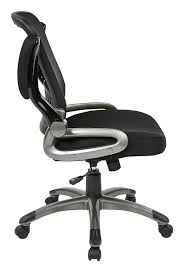 Comfortable Office Chairs Amazon Com Office Star Breathable Screen Back And Bonded Leather