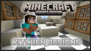 minecraft interior design kitchen minecraft pocket edition interior design kitchen tutorial