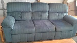 la z boy blue chenille sofa delmarva furniture consignment