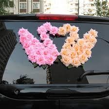 Wedding Car Decorations 63 Best Wedding Car Decorations Images On Pinterest Car Wedding