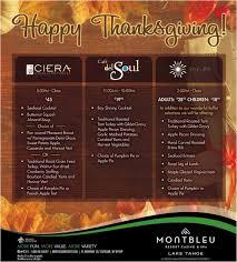 happy thanksgiving from the restaurants at montbleu resort casino