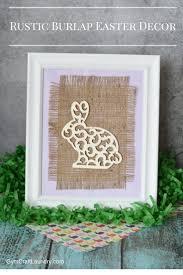 easy diy burlap wall art easter bunny gym craft laundry