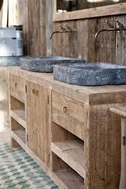Pallet Bathroom Vanity by Badkamermeubels Van Hardsteen En Oud Hout Op Maat Gemaakt Bij Jan