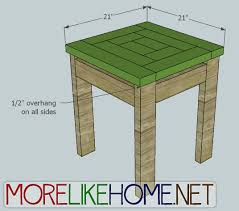 Build Outdoor End Table by More Like Home Day 22 Build A Craftsman Style End Table
