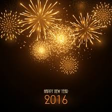2016 new year with golden fireworks vector vector festival free