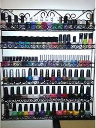black wire metal nail polish display organizer wall rack fit up