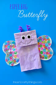 paper bag butterfly kids craft paper bags butterfly crafts and