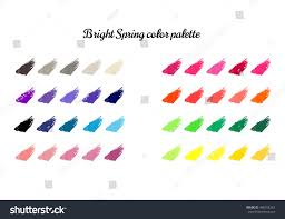 bright spring color combinations clothing colour stock vector
