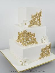 square cake square wedding cake