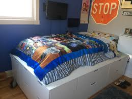 Ikea Platform Bed With Storage Bedroom Nordli Platform Ikea Hack Beds Black With