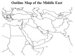 outline map middle east outline map of the middle east ppt