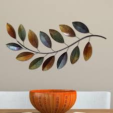 brilliant design leaf wall decor lofty stratton home decor metal