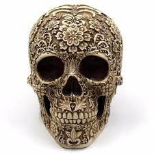 skull decor aztec floral engraved skull decor ideology