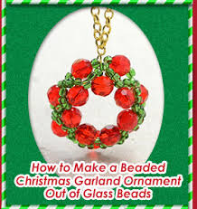 How To Make Christmas Ornaments Out Of Beads - diy christmas tree ornament crafts