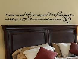bedroom wall quotes master bedroom wall quote decal meeting you was fate wall