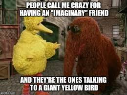 Crazy Bird Meme - big bird and snuffy memes imgflip