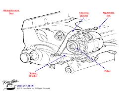 corvette alternator bracket keen corvette parts diagrams