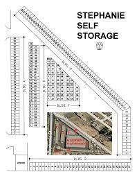 floor plan of stephanie mini self storage stephanie storage