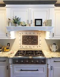 Tile Medallions For Backsplash by Kitchen Featured Installations Metal Coat Tile Signs Kitchen