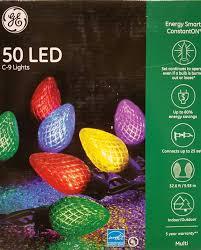 energy star led c9 lights amazon com ge energysmart 50 led c 9 holiday string lights indoor